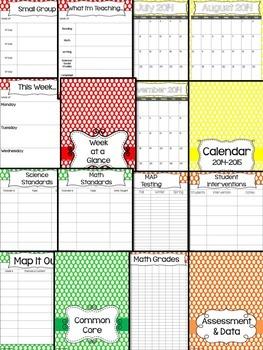 Teacher Binder (Editable- Polka Dots)