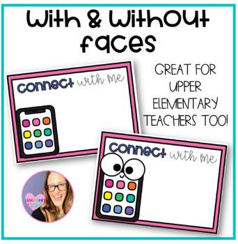 Editable Teacher Contact Cards