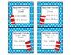 Editable Teacher Contact Magnets- Dr. Seuss Theme