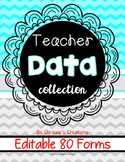 Teacher DATA Binder with intervention and Data Forms: Editable