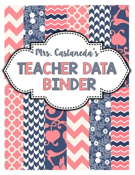 Editable Teacher Data Binder Cover