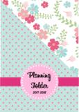 Editable Teacher Folder / Binder Covers - Floral and Polkadot