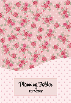 Editable Teacher Folder / Binder Covers - Pink Floral