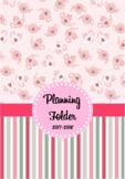 Editable Teacher Folder / Binder Covers - Pink Teapots