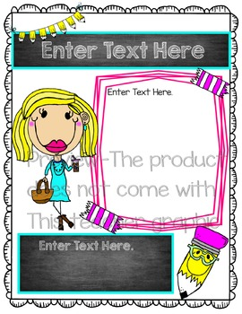 Editable Teacher Form {Confetti and Creativity Clip Art}
