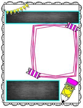 Editable Teacher Form {Confetti and Creativity Clip Art}