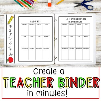 Forms for Special Education Teachers {Editable}