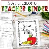 Special Education Teacher Binder