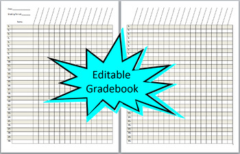 Editable teacher gradebook printable free lesson plan for Class record book template