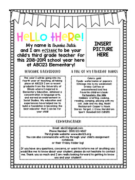 editable teacher introduction letter freebie editable teacher introduction letter freebie