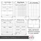 Editable Teacher Lesson Planner (Black Rainbow Theme)