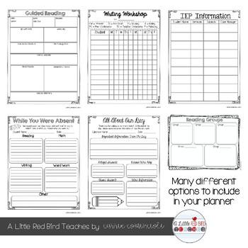 Editable Teacher Lesson Planner (Colorful Rainbow Theme)