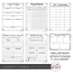 Editable Teacher Lesson Planner (Gray Blue Green Theme)