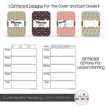 Editable Teacher Lesson Planner (Hipster Theme)