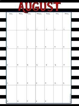 Editable Teacher  & Lesson Planner Pack: Black, White & Red Theme