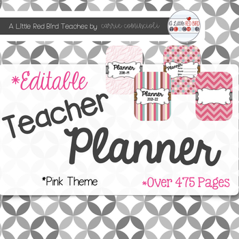 Editable Teacher Lesson Planner (Pink Theme)