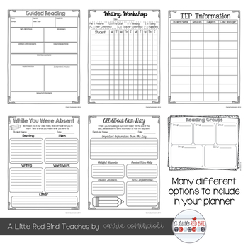 Editable Teacher Lesson Planner (Yellow, Lime, Turquoise & Red Theme)
