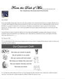 Editable Welcome Letter - Introduction to Classroom Rules