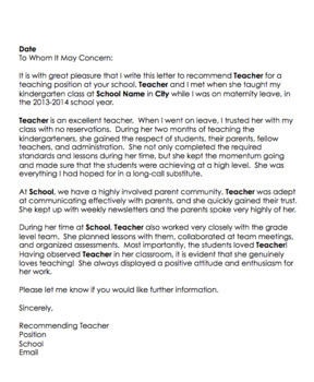 Letter Of Recommendation For Substitute Teacher from ecdn.teacherspayteachers.com