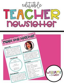 Editable Teacher Newsletter