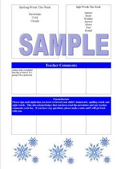 Editable Teacher Newsletters Spring Edition