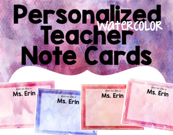 Editable Teacher Note Cards Gift