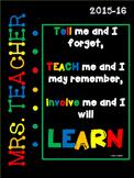 Editable Teacher Notebook Binder Including 2015-16 Calendar