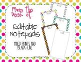 Editable Teacher Notepad {Mixed Print and Black-Line}