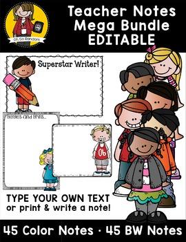 Editable Teacher Notes (MEGA BUNDLE)