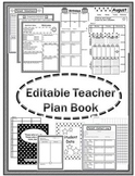 Editable Teacher Plan Book 2016 - 2017