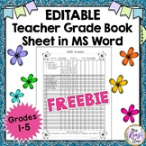 Editable Teacher Planner FREEBIE