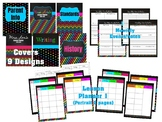 Editable Teacher Planner 2018 - 2019 (in Google Drive) Chalkboard Brights