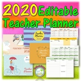Editable Teacher Planner 2020