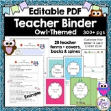 Teacher Planner Binder in Editable PDF Format with 300 Pag