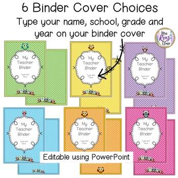 Editable PDF Teacher Binder  Editable PDF Teacher Planner Plus Calendars to 2025