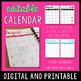 Editable Teacher Planner 2018-2019