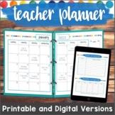 Editable Teacher Planner 2019 - 2022