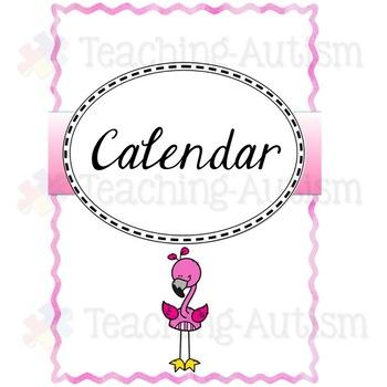 Editable Teacher Planner Binder Flamingo