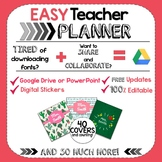 The EASY Teacher Planner   Google Drive   Modern Designs   Free Updates