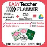 The EASY Teacher Planner | Google Drive | Modern Designs |
