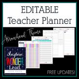 Editable Teacher Planner 2017-2018 in Arrowhead Design