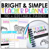 Teacher Planner 2019-2020 | Editable