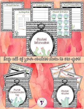 Teacher Planner - Cactus Theme! {EDITABLE}