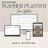 Editable Teacher Planner - Calendar, Lesson Plans, Sub Binder, & More!