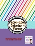 Editable Teacher Planner, Calendar, and Organizer--Rainbow