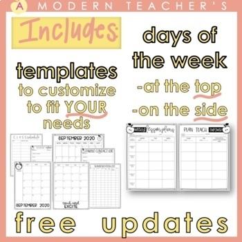 teacher organizer planner