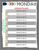 Editable Teacher Planner--Coral, Green and Gray