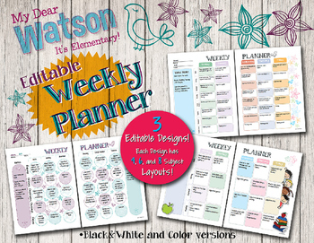 Editable Teacher Planner & Organizer Binder