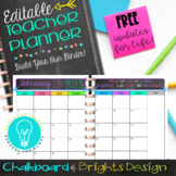 EDITABLE Teacher Planner & Organizer BuildYourOwnBinder {Chalkboard & Brights}