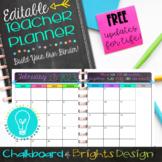 EDITABLE Teacher Planner & Organizer - BuildYourOwnBinder {Chalkboard & Brights}